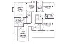 Craftsman Floor Plan - Upper Floor Plan Plan #419-168