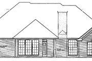 European Style House Plan - 3 Beds 2.5 Baths 2128 Sq/Ft Plan #310-407 Exterior - Rear Elevation
