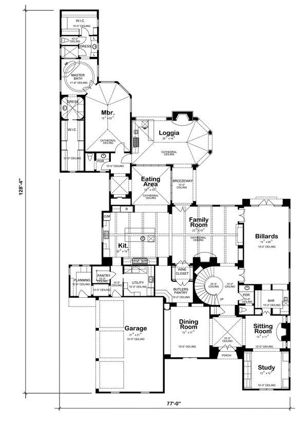 European Floor Plan - Main Floor Plan #20-2167