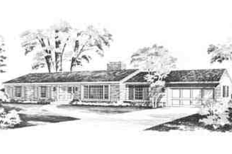 Ranch Exterior - Front Elevation Plan #72-199