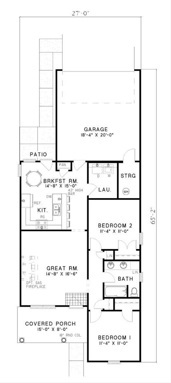 Traditional Floor Plan - Main Floor Plan Plan #17-125