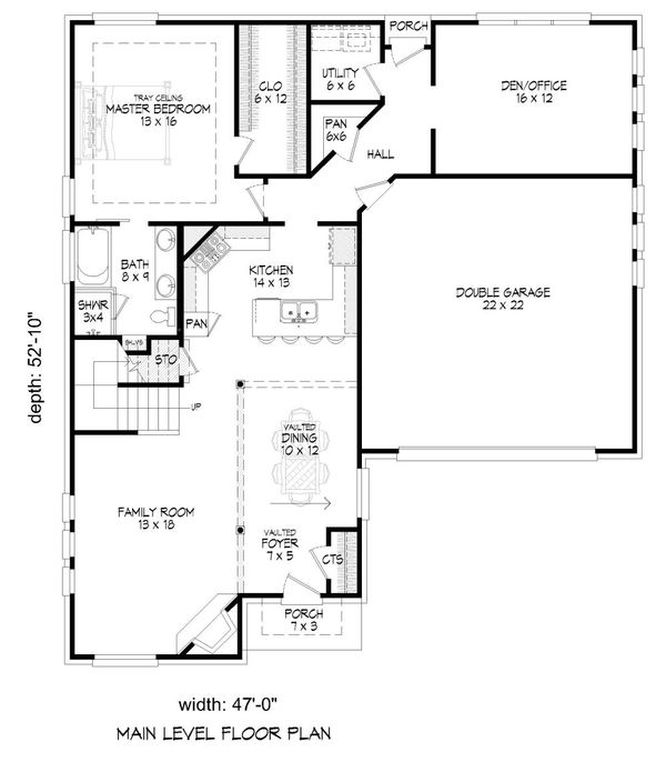 Dream House Plan - Contemporary Floor Plan - Main Floor Plan #932-172