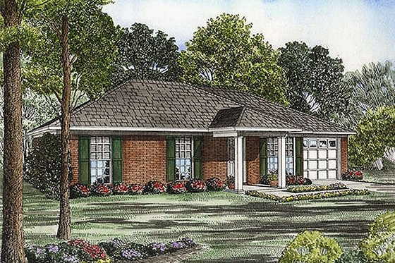 Southern Exterior - Front Elevation Plan #17-2082