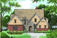 Dream House Plan - European Exterior - Front Elevation Plan #413-145