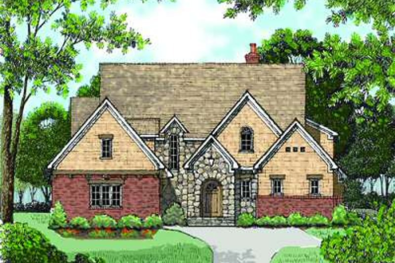 European Exterior - Front Elevation Plan #413-145