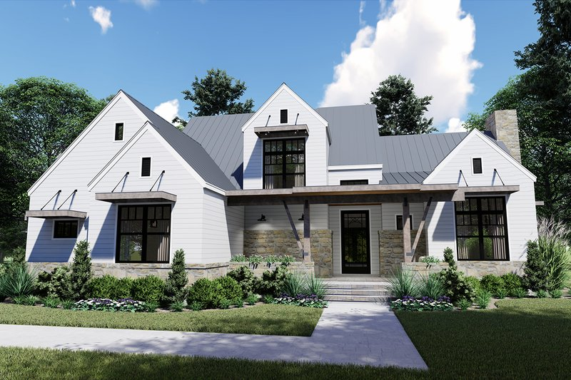 House Plan Design - Farmhouse Exterior - Front Elevation Plan #120-258