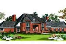 European Exterior - Front Elevation Plan #72-209