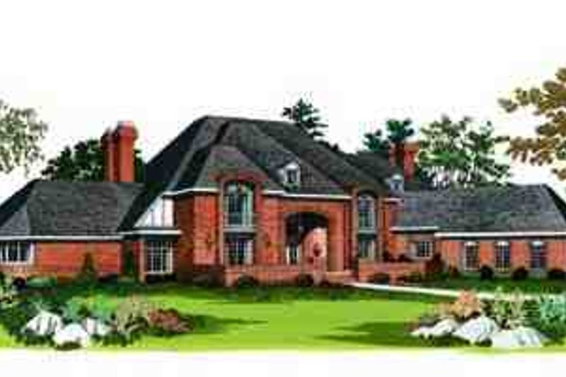 House Plan Design - European Exterior - Front Elevation Plan #72-209