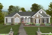 Craftsman Style House Plan - 3 Beds 2.5 Baths 1992 Sq/Ft Plan #56-567 Exterior - Front Elevation