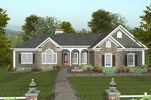 Craftsman Exterior - Front Elevation Plan #56-567