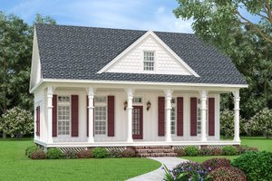 Dream House Plan - Cottage Exterior - Front Elevation Plan #45-595