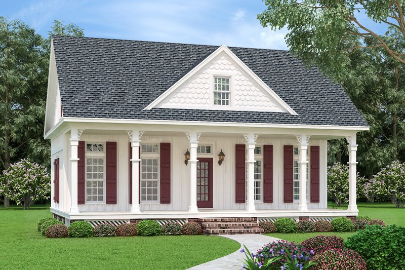 Cottage Style House Plan - 3 Beds 3 Baths 1370 Sq/Ft Plan #45-595