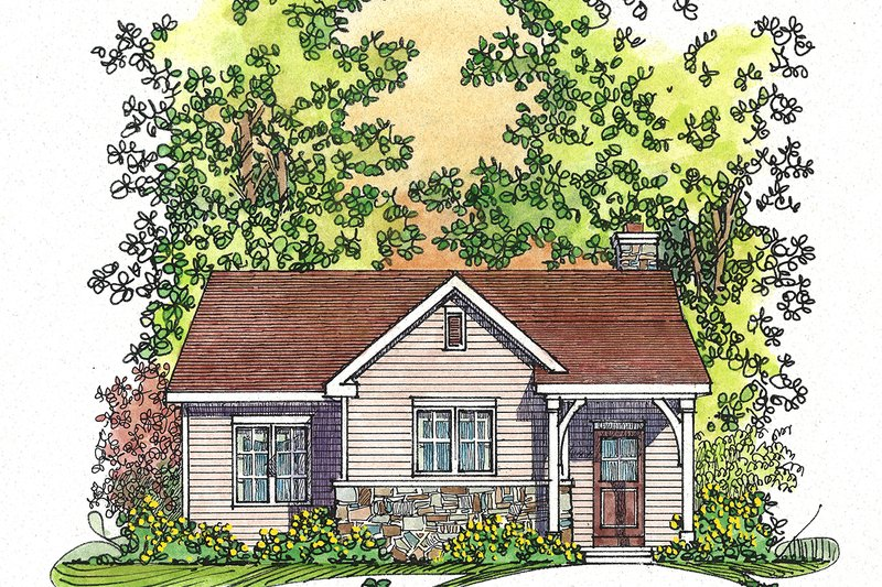 Cottage Exterior - Front Elevation Plan #22-567