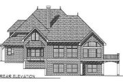 European Style House Plan - 4 Beds 2.5 Baths 2854 Sq/Ft Plan #70-489 Exterior - Rear Elevation