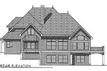 European Exterior - Rear Elevation Plan #70-489