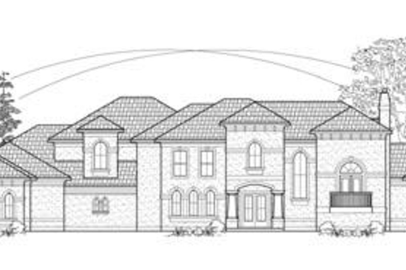 Mediterranean Exterior - Front Elevation Plan #61-158
