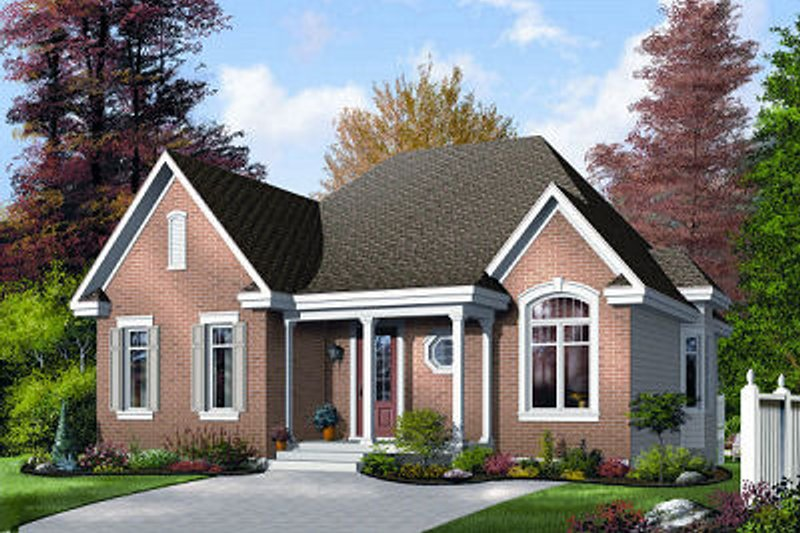 Traditional Exterior - Front Elevation Plan #23-689