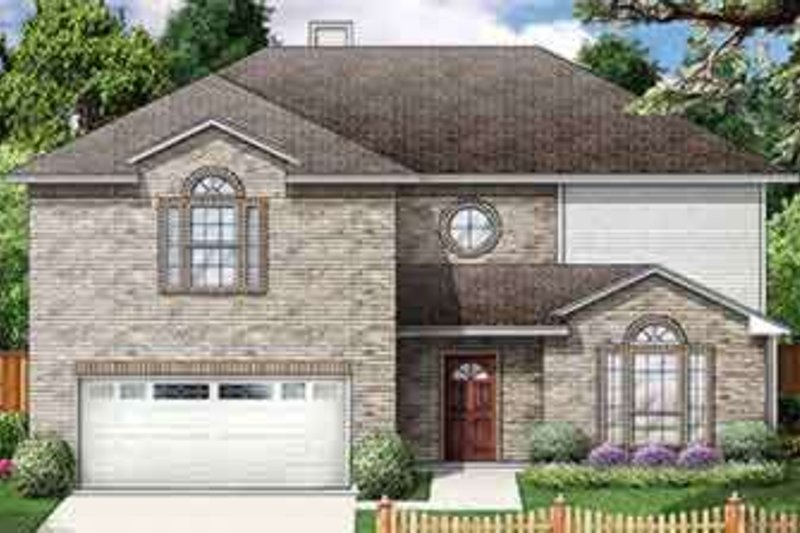 Traditional Style House Plan - 6 Beds 3 Baths 3002 Sq/Ft Plan #84-187 Exterior - Front Elevation