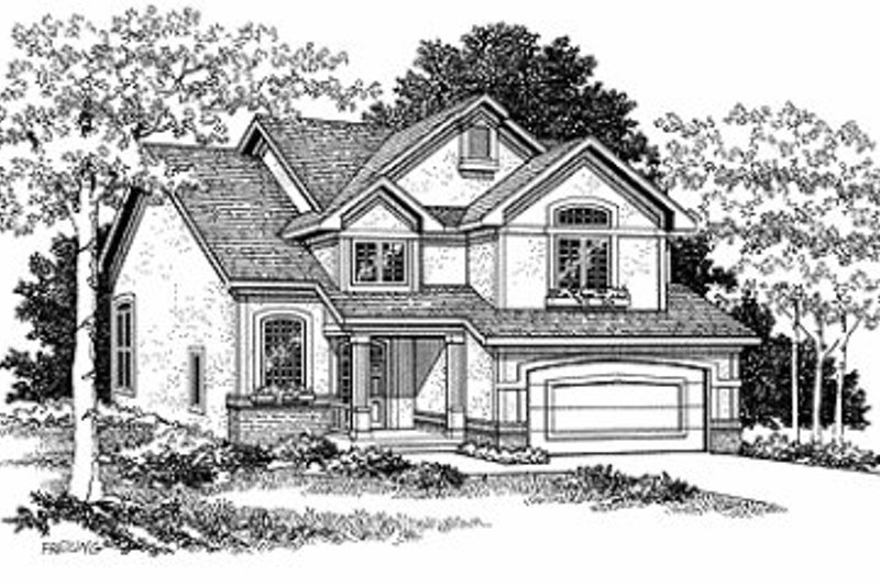 Dream House Plan - European Exterior - Front Elevation Plan #70-416