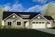 Ranch Exterior - Front Elevation Plan #920-83