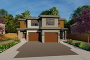 Contemporary Style House Plan - 3 Beds 2.5 Baths 1421 Sq/Ft Plan #126-201 Exterior - Front Elevation