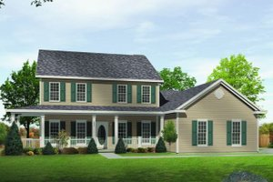 Country Exterior - Front Elevation Plan #22-515