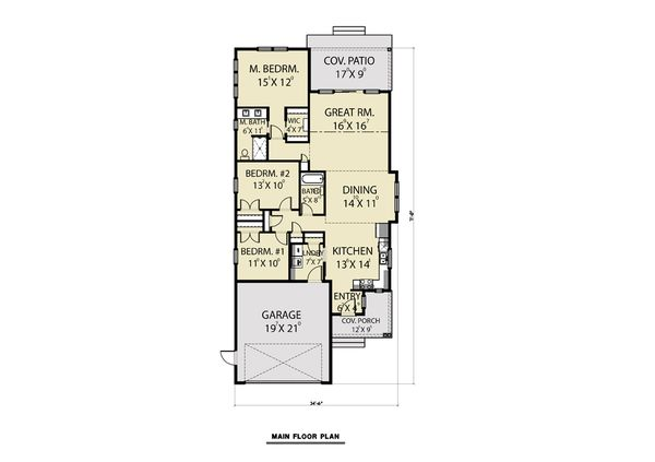 House Plan Design - Craftsman Floor Plan - Main Floor Plan #1070-79