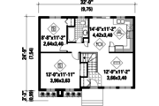 Cottage Style House Plan - 2 Beds 1 Baths 779 Sq/Ft Plan #25-4847 Floor Plan - Main Floor Plan