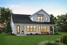 Home Plan - Contemporary Exterior - Rear Elevation Plan #48-1033
