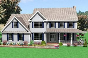 Traditional Exterior - Front Elevation Plan #75-180