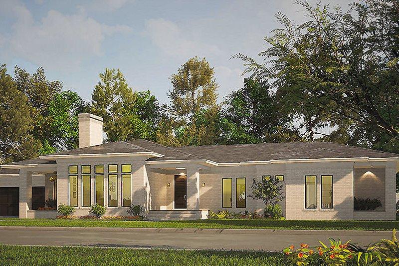 Architectural House Design - Prairie Exterior - Front Elevation Plan #923-209