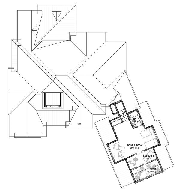 Architectural House Design - Farmhouse Floor Plan - Upper Floor Plan #1069-21