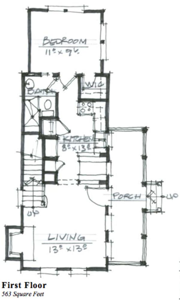 Cottage Floor Plan - Main Floor Plan Plan #464-6