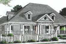 House Design - Country Exterior - Front Elevation Plan #20-2039