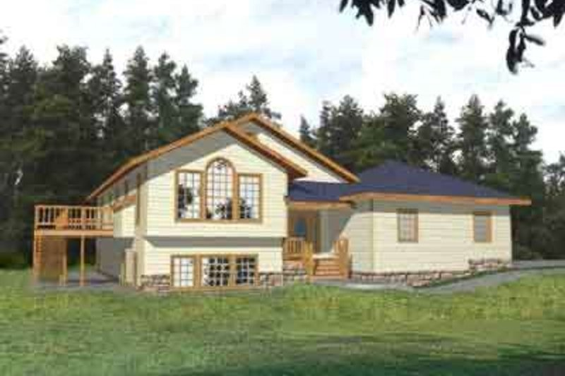 Traditional Exterior - Front Elevation Plan #117-293 - Houseplans.com