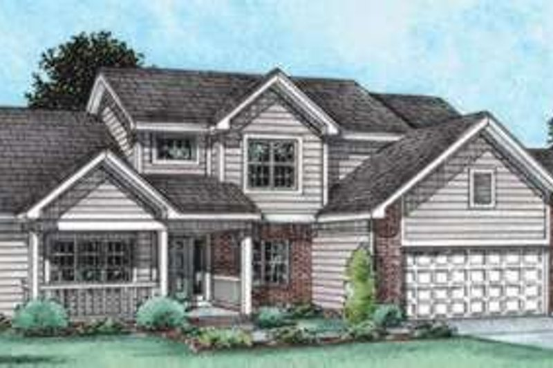 Home Plan - Traditional Exterior - Front Elevation Plan #20-1787