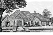 European Style House Plan - 4 Beds 3 Baths 2802 Sq/Ft Plan #310-385 Exterior - Front Elevation