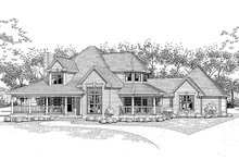 Traditional Exterior - Front Elevation Plan #120-130
