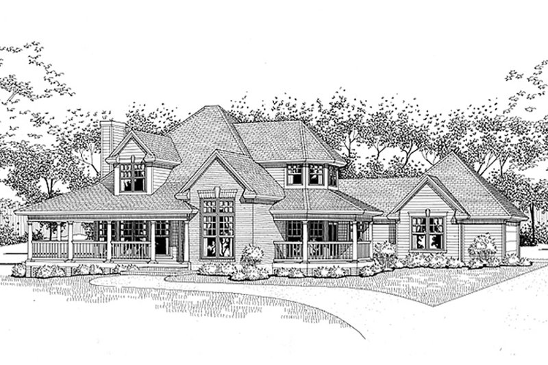House Design - Traditional Exterior - Front Elevation Plan #120-130
