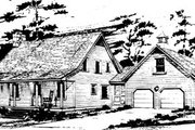 Country Style House Plan - 4 Beds 3 Baths 2396 Sq/Ft Plan #10-248 Exterior - Front Elevation