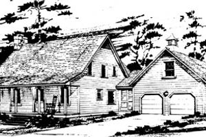 Country Exterior - Front Elevation Plan #10-248