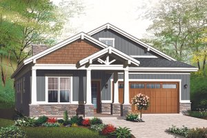 Ranch Exterior - Front Elevation Plan #23-2655