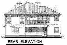 House Blueprint - Mediterranean Exterior - Rear Elevation Plan #18-222