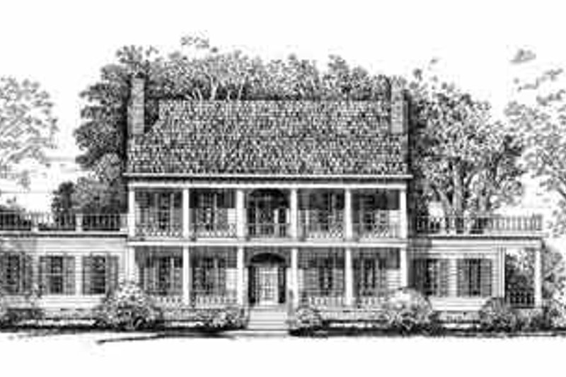 Colonial Exterior - Front Elevation Plan #72-380