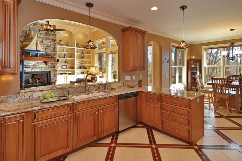 European Interior - Kitchen Plan #929-21 - Houseplans.com