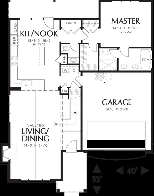Traditional Floor Plan - Main Floor Plan Plan #48-568