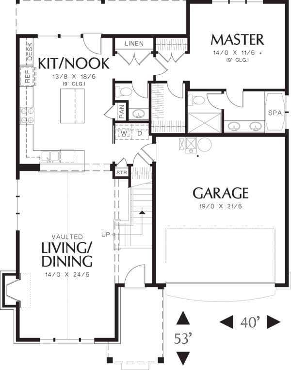Home Plan - Traditional Floor Plan - Main Floor Plan #48-568