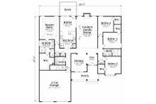 Country Floor Plan - Main Floor Plan Plan #419-130