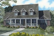 Farmhouse Style House Plan - 4 Beds 2 Baths 3706 Sq/Ft Plan #17-2341 Exterior - Front Elevation