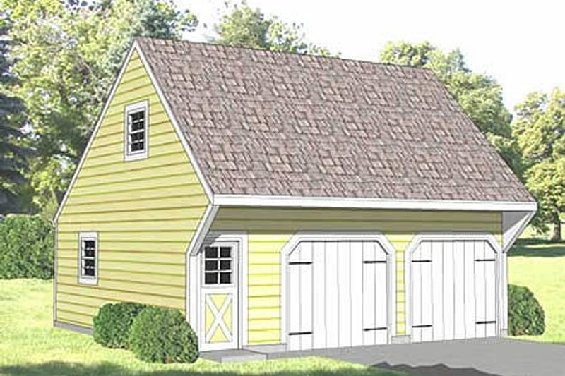 Country Style House Plan - 0 Beds 0 Baths 624 Sq/Ft Plan #116-226 Exterior - Front Elevation